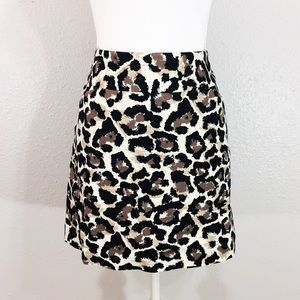 Loft bold print leopard pencil pocket skirt